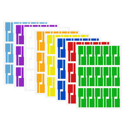 8 Sheets Waterproof Network Cable Labels Sticker A4 Size Blank Label Markers Set