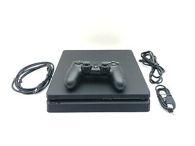 Sony PlayStation 4 Slim PS4 1TB Black Gaming Console with Controller and Cables