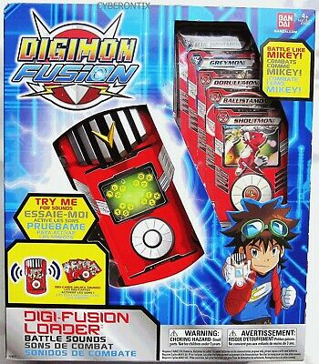 Digimon Fusion LOADER Electronic Handheld Battle Sounds plus Cards 2013 MIB New