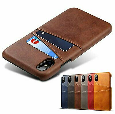 For iPhone X XS XR XS Max PU Leather Wallet Credit ID Card Slot Cover Case