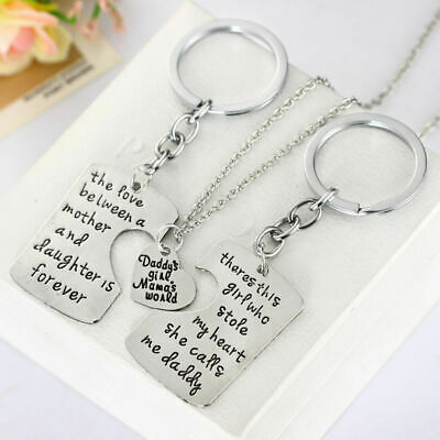 Family Member Mother Daughter Mothers Day Fathers Day Necklace Keychain Jewelry