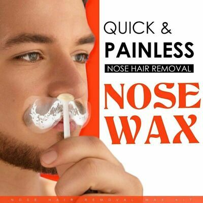 Nose Hair Removal Wax Kit Nasal Ear Hairs Painless Effective Safe Quick Beads US