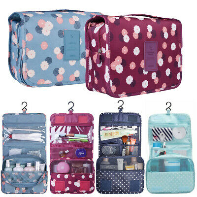 Hanging Toiletry Bag Travel Cosmetic Kit Large Essentials Organizer Folding 2019