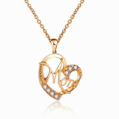 Womens Mothers Day Gift Alloy Necklace Elegant Charm Jewelry Creative Love MOM