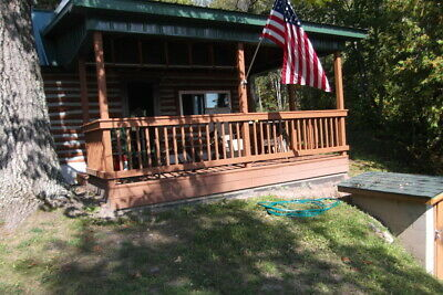 Rustic Log Cabin Home located on Beautiful Thunder Bay River w View - Frontage