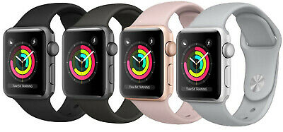 Apple Watch Series 3 38mm  42mm  Aluminum GPS - GSM Cellular Smartwatch