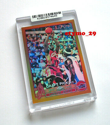 2003 Lebron James Topps Chrome Reprint Gold  Actual Refractor  RC  910