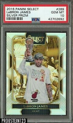 2016-17 Select Silver Prizm LeBron James Miami Heat PSA 10 GEM MINT