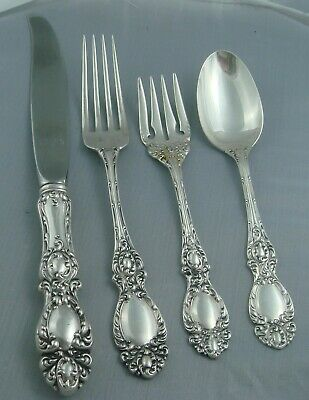 Wallace Lucerne Sterling Silver Four  4  Piece Setting