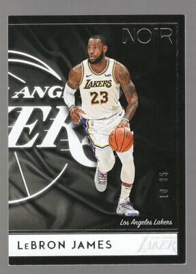 LEBRON JAMES 2018-19 PANINI NOIR BASE 18 1085 LOS ANGELES LAKERS