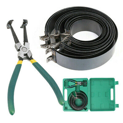 Professional 14Pcs Piston Ring Compressor with Ratcheting Plier - Carrying Case
