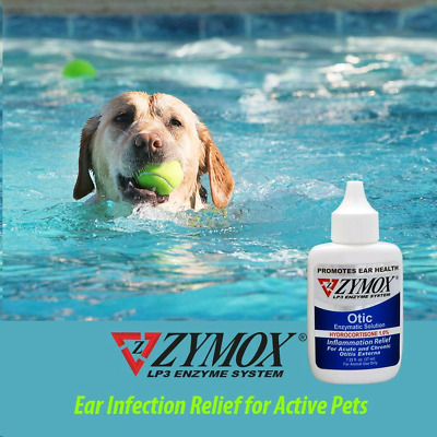ZYMOX Pet King Brand Otic Ear Treatment with Hydrocortisone 1-25 oz