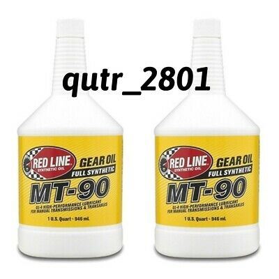 2 Red Line Oil Synthetic Manual Transmission Lubricant MT90 GL-4 75W90 50304