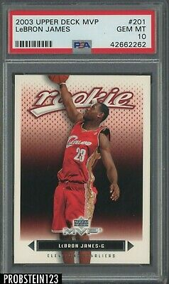 2003-04 Upper Deck MVP 201 LeBron James Cavaliers RC Rookie PSA 10 GEM MINT