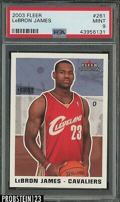 2003-04 Fleer Tradition 261 LeBron James Cleveland Cavaliers RC Rookie PSA 9