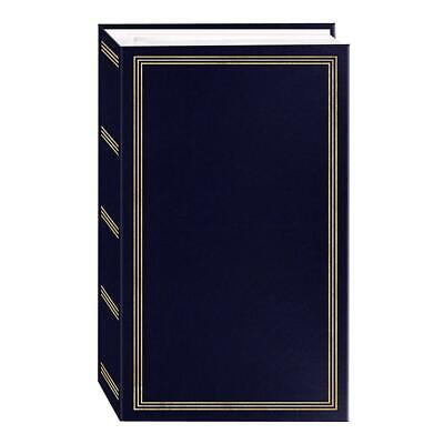 3-Ring Photo Album 504 Pockets Hold 4x6 Photos Navy Blue