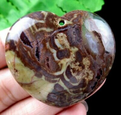 43x38x7mm Beautiful Natural Brown Ayaka Agate pendant bead E49343