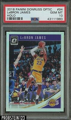 2018-19 Donruss Optic Holo 94 LeBron James Los Angeles Lakers PSA 10 GEM MINT