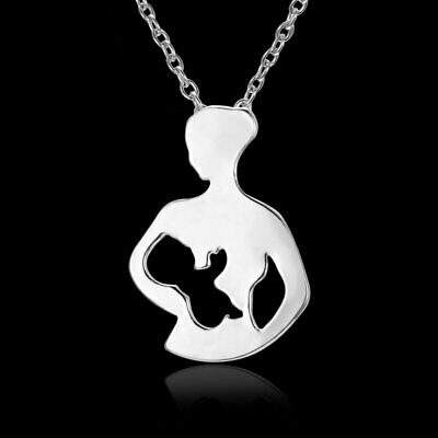Fashion Silver Hollow Stainless Steel Pendant Necklace Mothers Day Best Gift