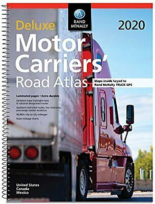 Rand McNally 2020 Deluxe Motor Carriers Road Atlas Truckers Bus RV Maps