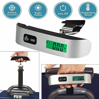 50kg10g Portable Travel LCD Digital Hanging Luggage Scale Electronic Weight US