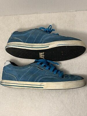 Mens Shoes - Supra  Size 11-5  Low Top Light Blue Suede Skate Sneakers