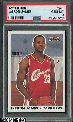 LeBron James 2003-04 Fleer Tradition PSA 10 Gem Mint Rookie Card RC BGS Lakers