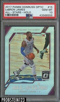 2017-18 Donruss Optic Holo All-Stars LeBron James Cleveland Cavaliers PSA 10