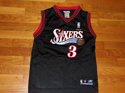 REEBOK PHILADELPHIA 76ERS ALLEN IVERSON NBA BASKETBALL JERSEY BOYS MEDIUM 10-12