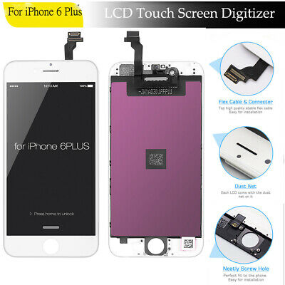 For iPhone 6 Plus White LCD Display Touch Screen Digitizer Assembly Replacement