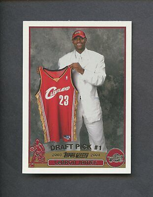 2003-04 Topps 221 LeBron James Cleveland Cavaliers RC Rookie