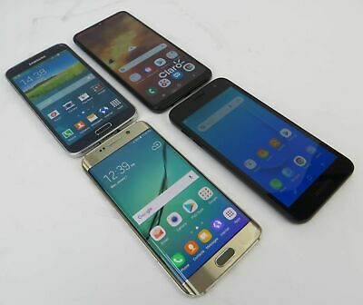 Dealer Lot 4 Samsung Phones Galaxy S6 Edge S5 A10 - J2 Core - Unknown Carriers