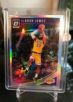 2018-19 OPTIC LEBRON JAMES HOLO SILVER REFRACTOR PRIZM Los Angeles Lakers