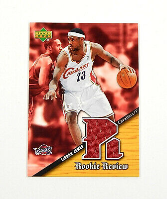 2004-05 Upper Deck Rookie Review LeBron James SP Jersey Relic