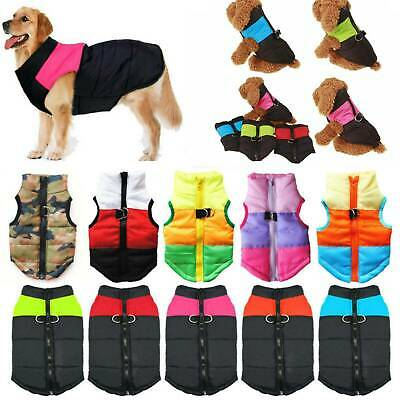 Pet Dog Vest Jacket Warm Waterproof Clothes Winter Padded Puppy Coat SmallLarge