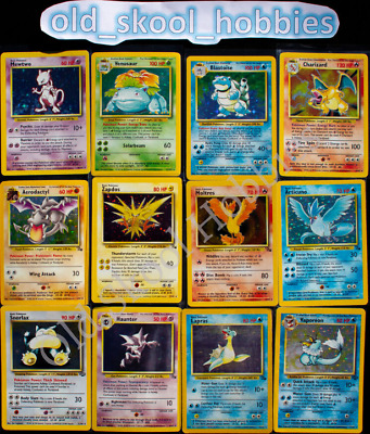 Old Pokemon 1 Card Mystery  100 Vintage WOTC Guaranteed Authentic Originals