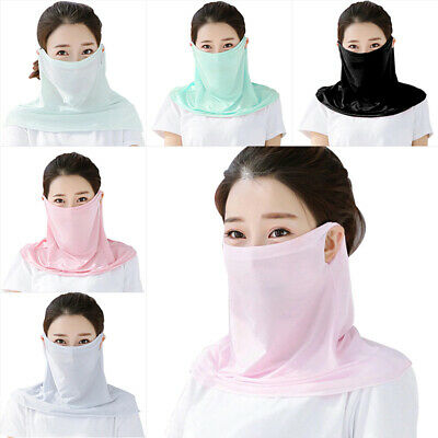 Summer Sun Mask Anti-UV Dust Proof Ice Silk Face Mask for Sports Riding Outdoor