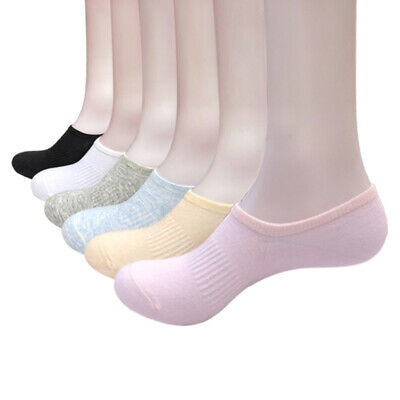 5 Pairs Womens Loafer Boat Invisible No Show Nonslip Liner Low Cut Cotton Socks