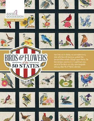Birds - Flowers of the 50 States Anita Goodesign Special Edition Embroidery CD