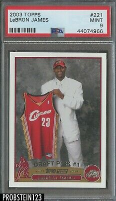2003-04 Topps 221 LeBron James Cleveland Cavaliers RC Rookie PSA 9 MINT