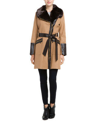 Via Spiga Kate Middleton Camel Wool-Blend Coat Womens  12