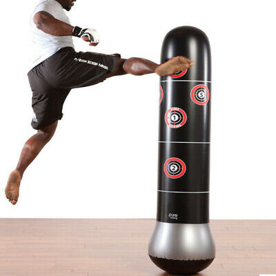 160cm Inflatable Boxing Punching Bag Kick Training Tumbler Sandbag - Air Pump