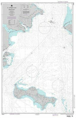 NOAA Chart Bering Sea St- Lawrence Island to Bering Strait 6th Edition 16220