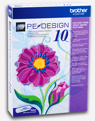 Brother PE Design 10 Embroidery Full Software - Free Gifts - FAST DELIVERY