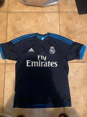 Adidas ClimaCool 2015 Real Madrid Fly Emirates Mens Third Soccer Jersey Size S