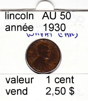 e2 )pieces de 1 cent  1930     lincoln