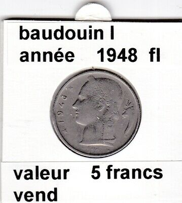 FB 2 )pieces de 5 francs de baudouin I 1948 belgie