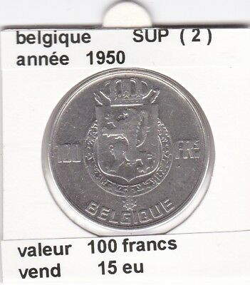 FB )pieces de 100 francs albert I 1950  belgique ( 2 )