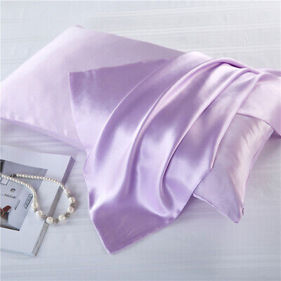 Mulberry Silk Charmeuse Pillowcase Hypoallergenic Pillow Shams Cover 50cm x 75cm