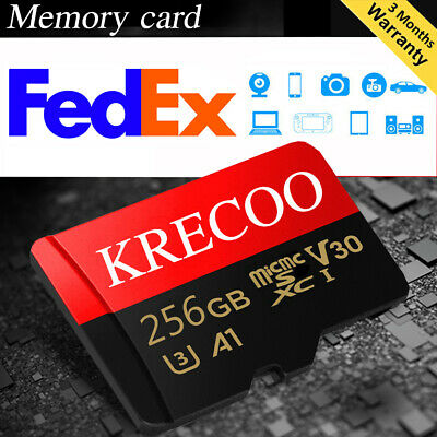 Micro Flash Memory Card 256GB 128GB 64GB 95MBs Class 10 High Speed - Adapter NEW